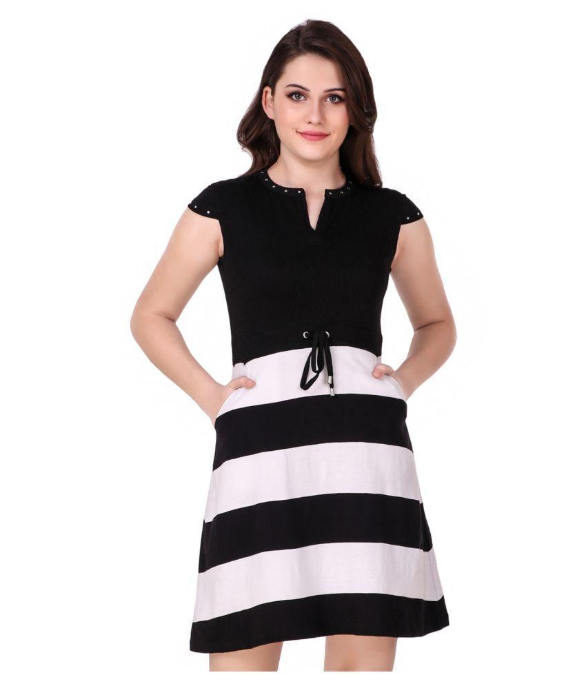 Texco Cotton Multi Color Skater Dress
