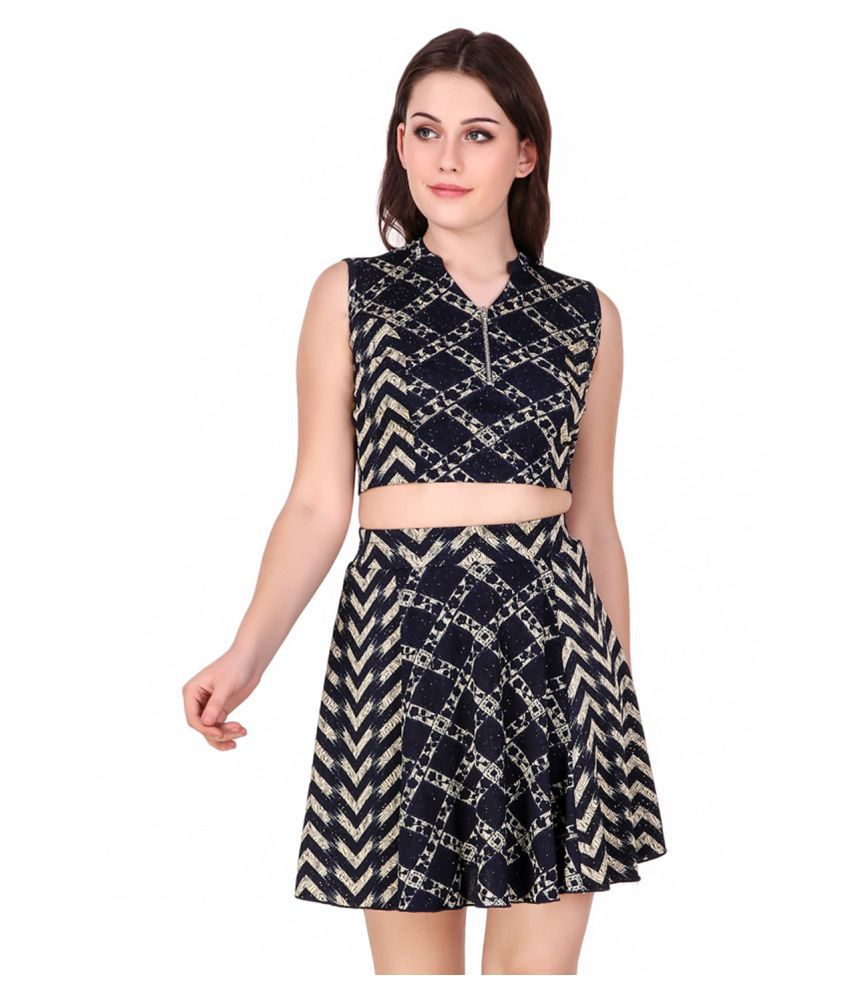 Texco Polyester Multi Color Regular Dress