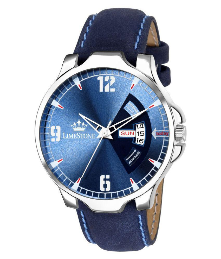 LimeStone Avtar Blue Day and Date Functioning Analog Watch for Men/Boys