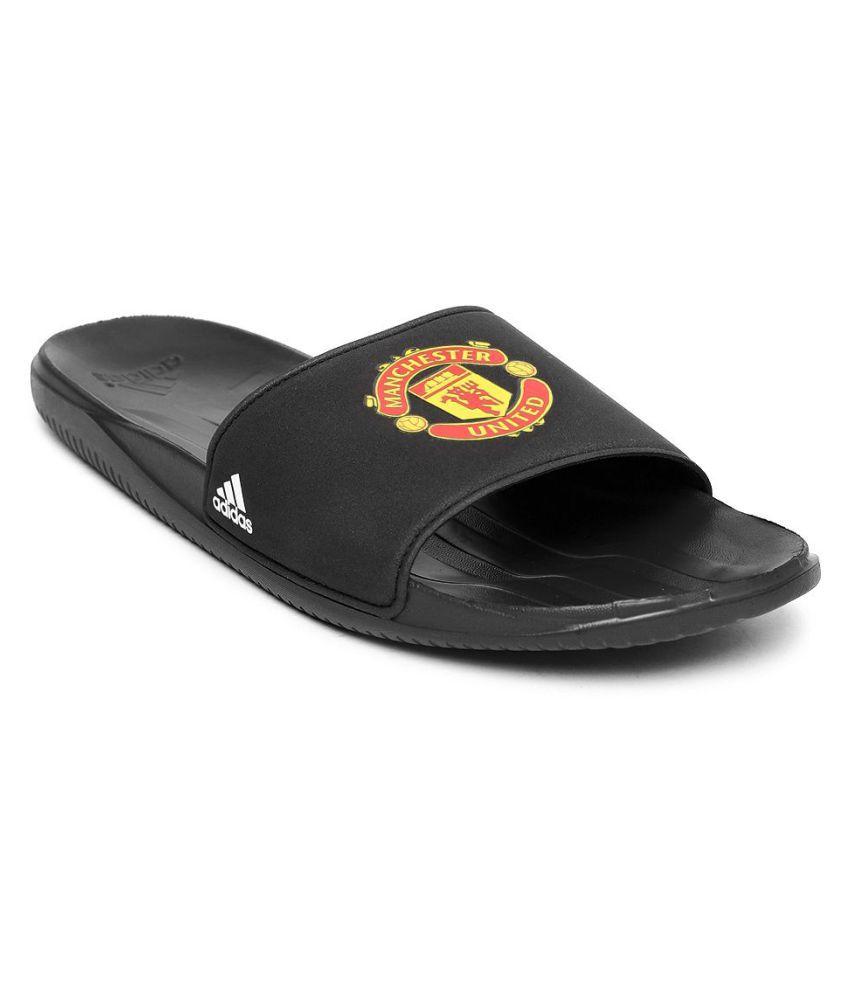 574577ae03d Adidas Men Manchester United FC Black Slide Flip flop Price in India ...