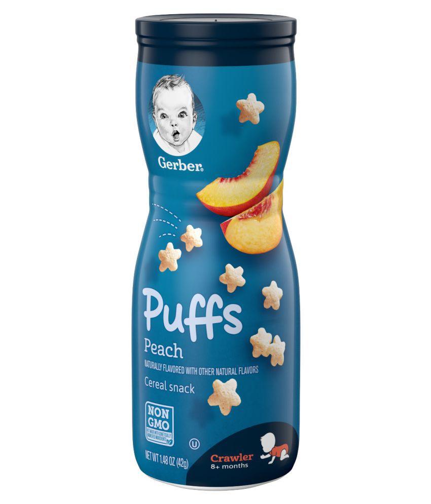 Gerber Gerber Baby Food Peach Cereal Snack Snack Foods for 6 Months + ( 42 gm )