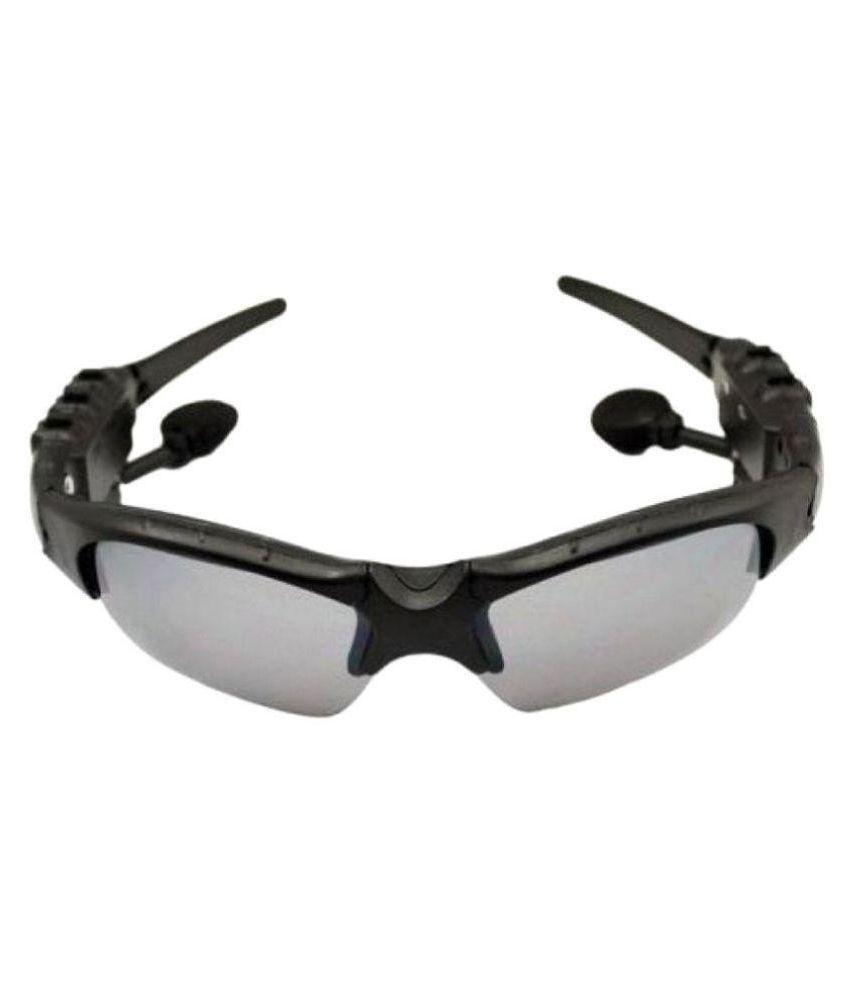 Jaiden Grey Wrap Around Sunglasses (  With Bluetooth Connectivity  10008 )