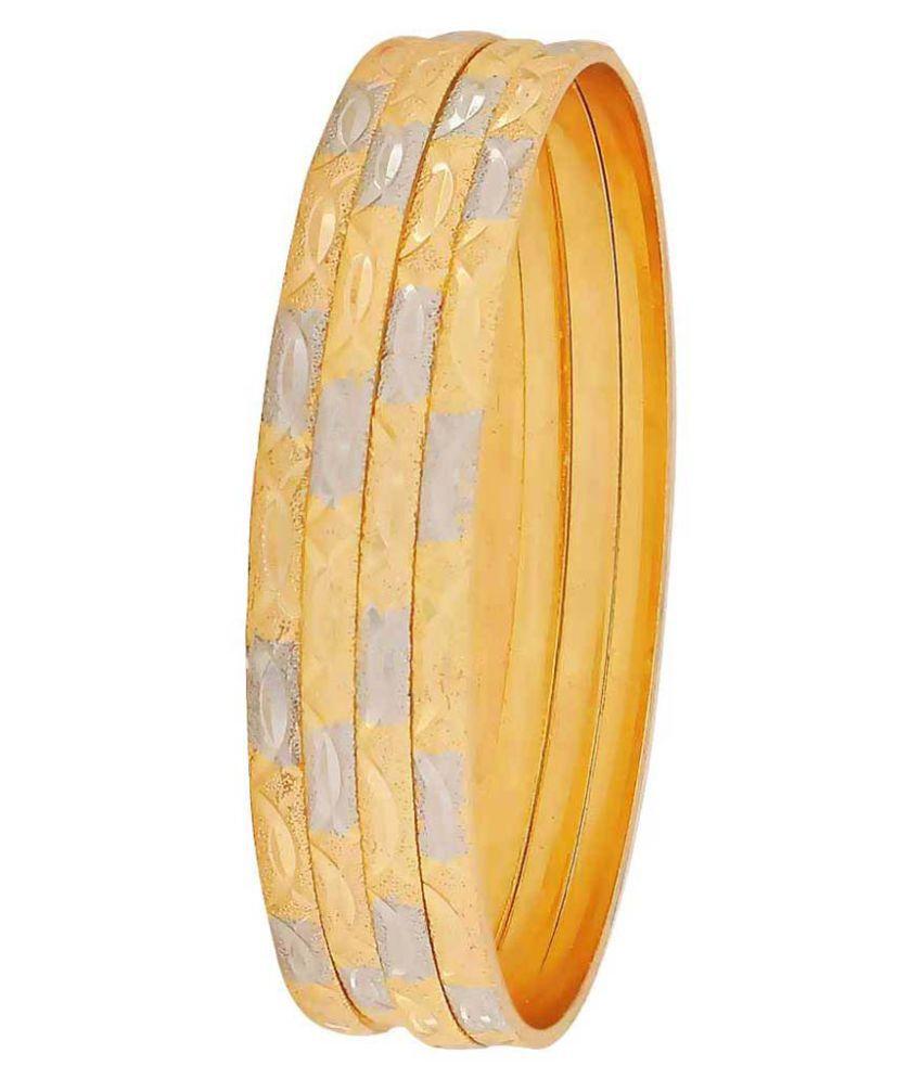 Maayra Golden Dailywear Bangle Set Indian Ethnic Bangle Set for Women