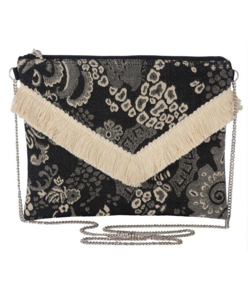 Rezzy Black Canvas Shoulder Bag
