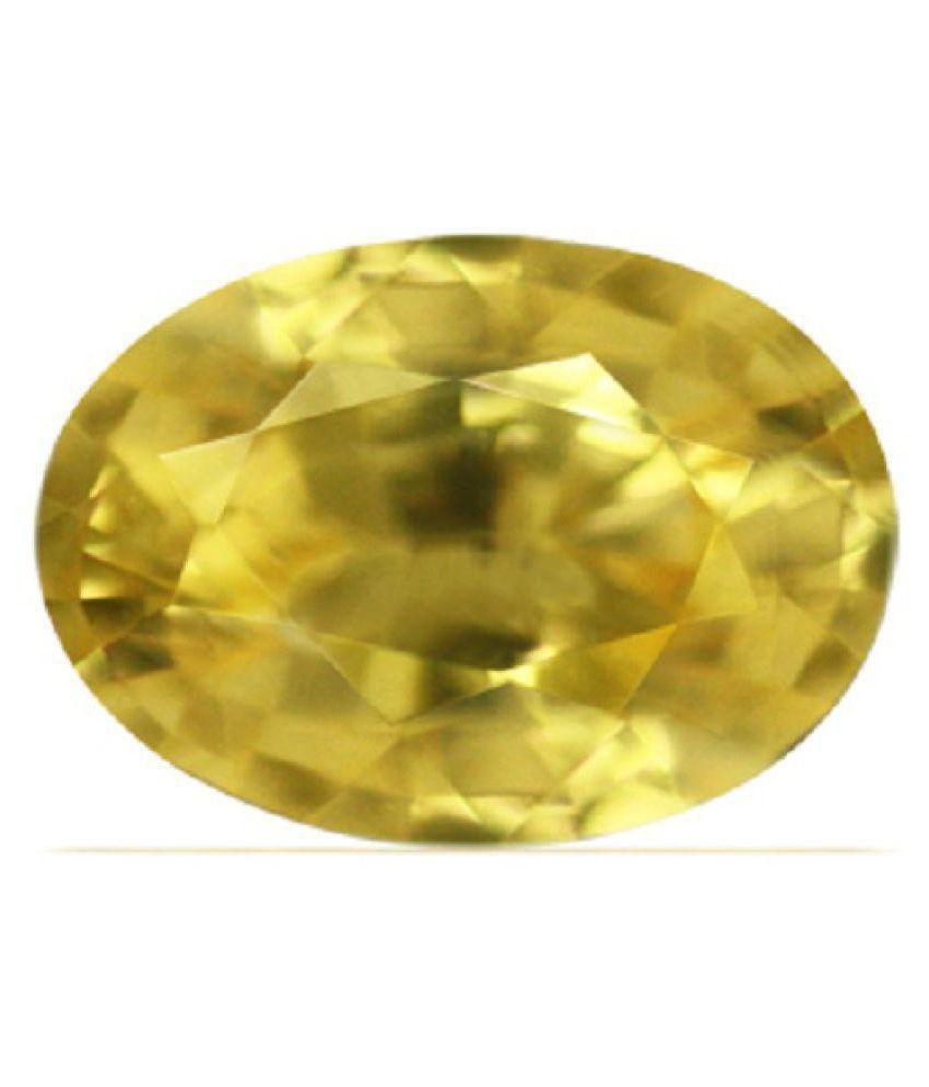 White Hills Stone 6.25 -Ratti IGL Yellow Yellow Sapphire (Pukhraj) Precious Gemstone