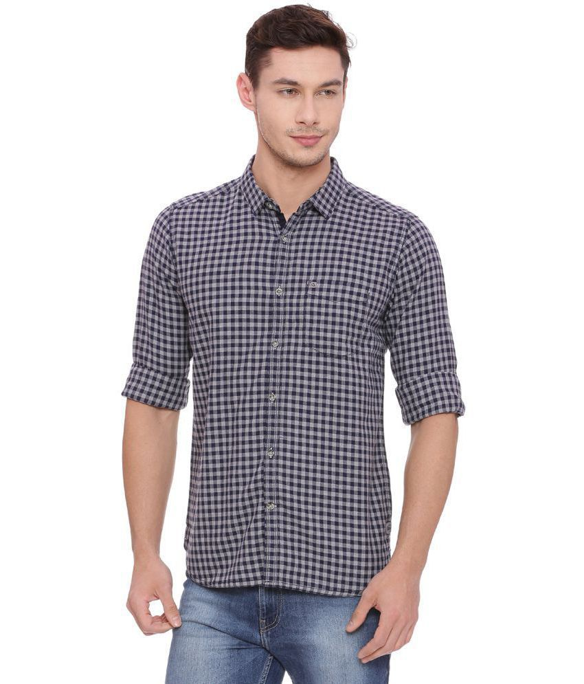 Urbantouch Navy Slim Fit Shirt Single