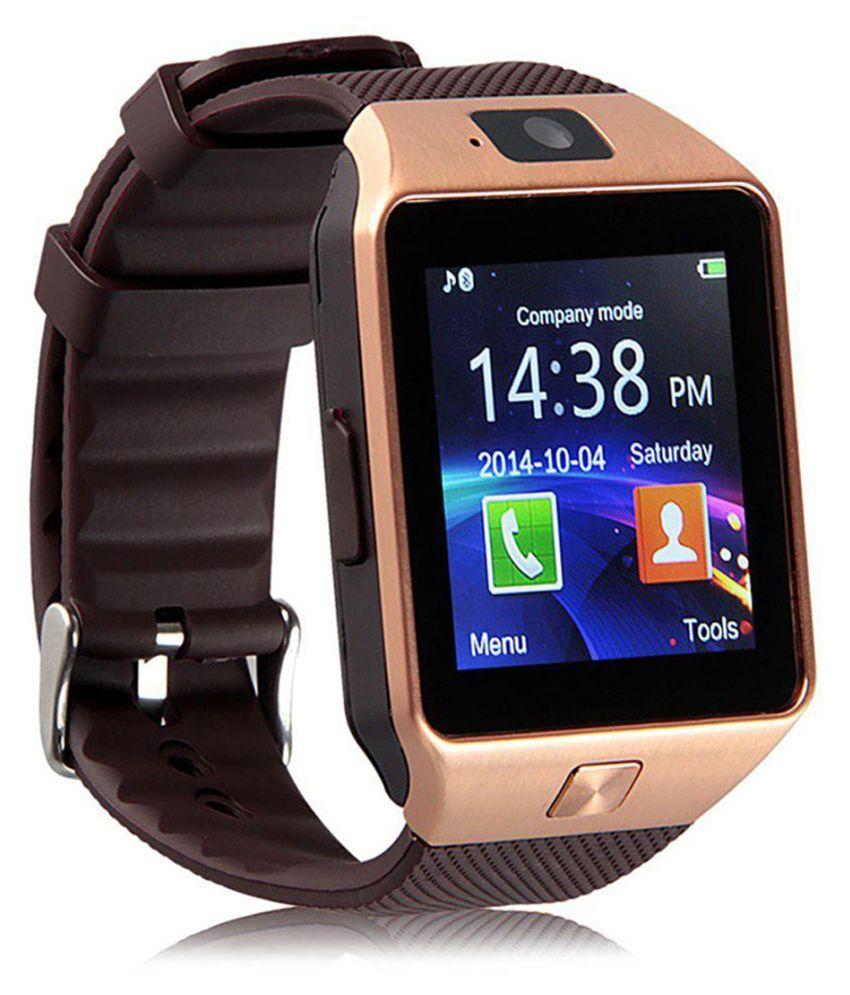 Wokit Smartwatch Suited Itel Wish A21 Dz09 Golden Smart Watches