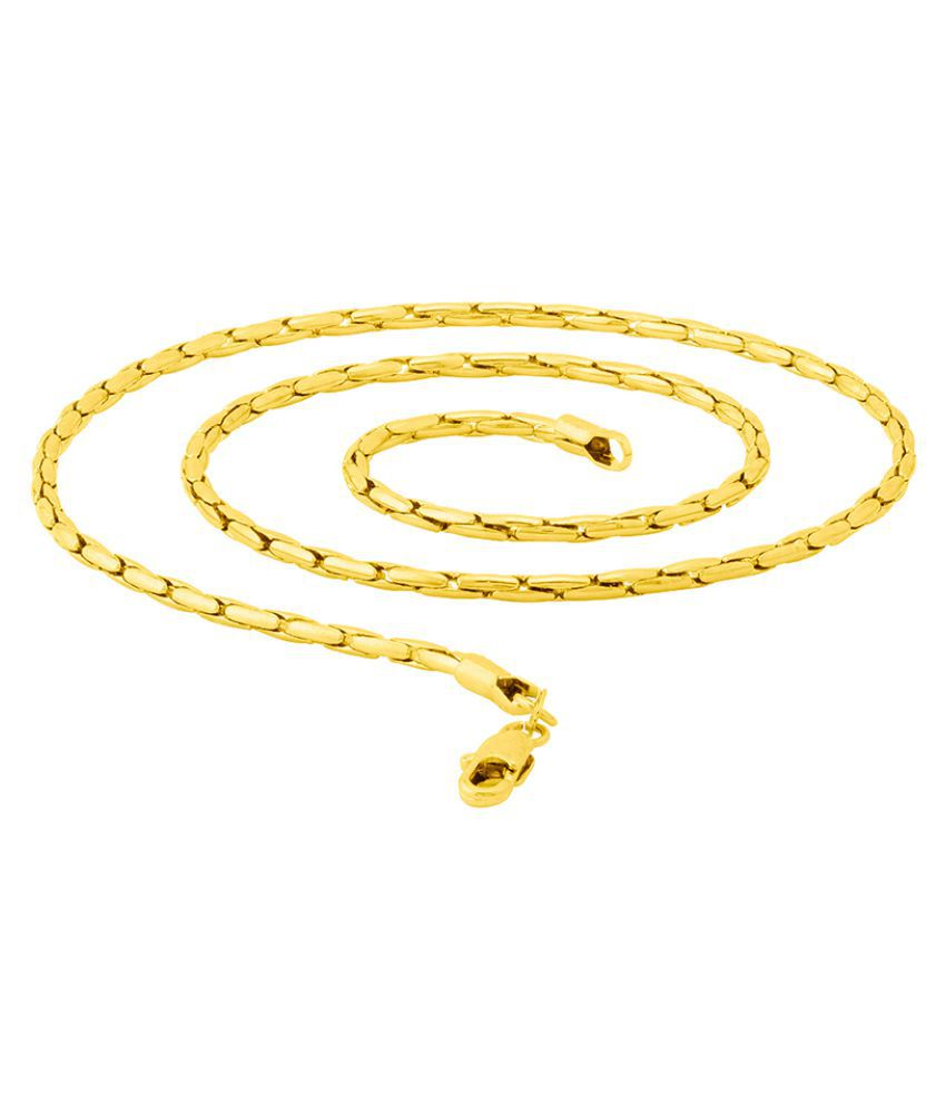 Dare by Voylla Striking Gold Plated Link Chain from Linking Laureate