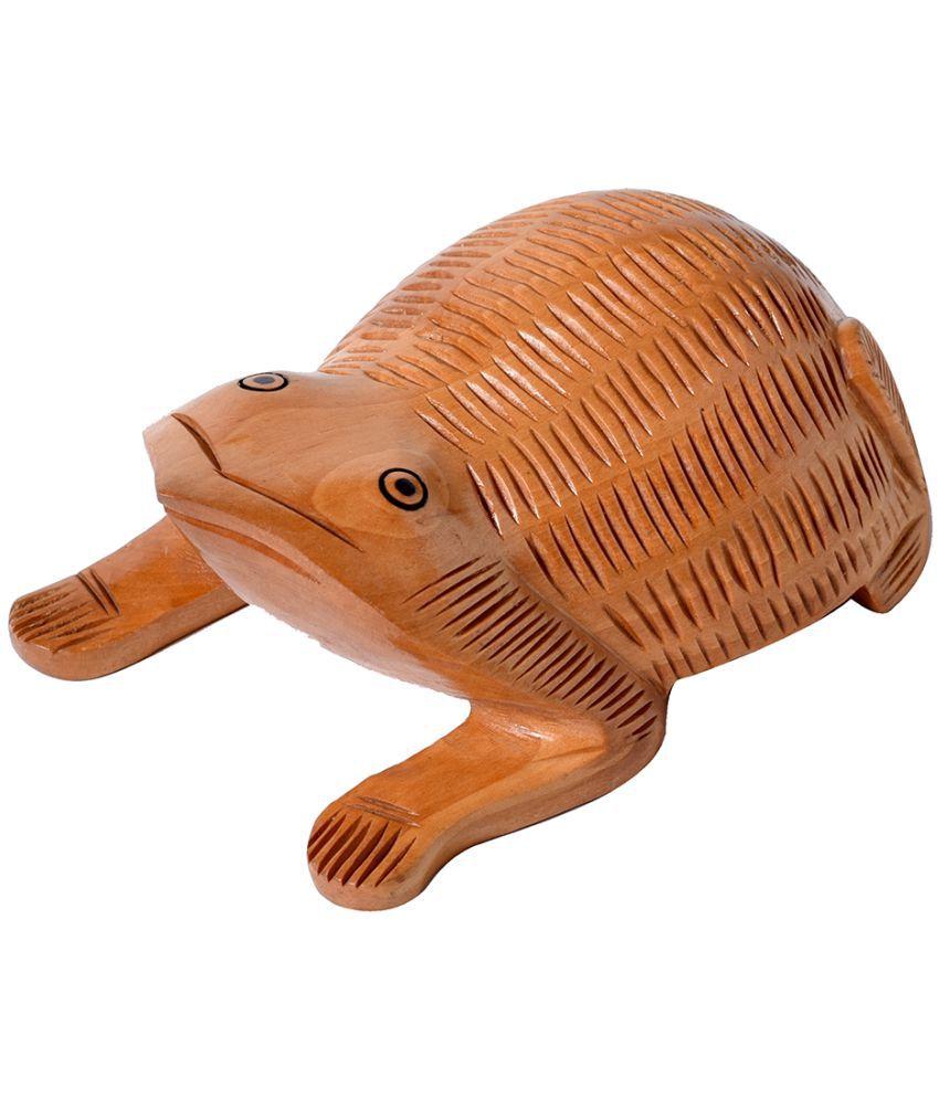 KraftMania Brown Wood Handicraft Showpiece - Pack of 1