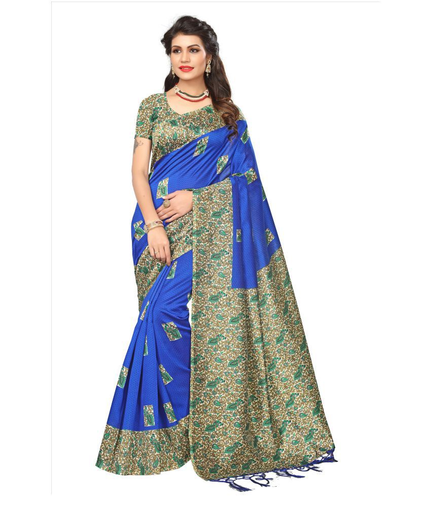 StoreMazza Multicoloured Mysore Silk Saree
