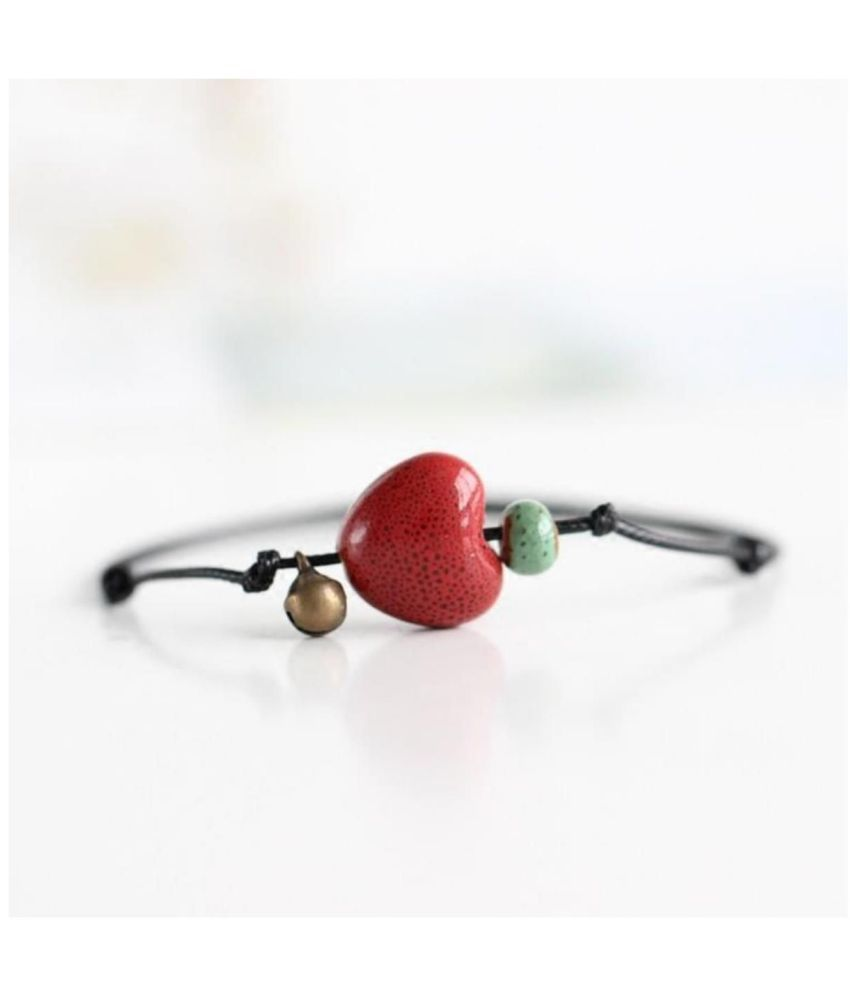 Creative fashion handmade heart ceramic anklets small jewelry national wind parts By DC