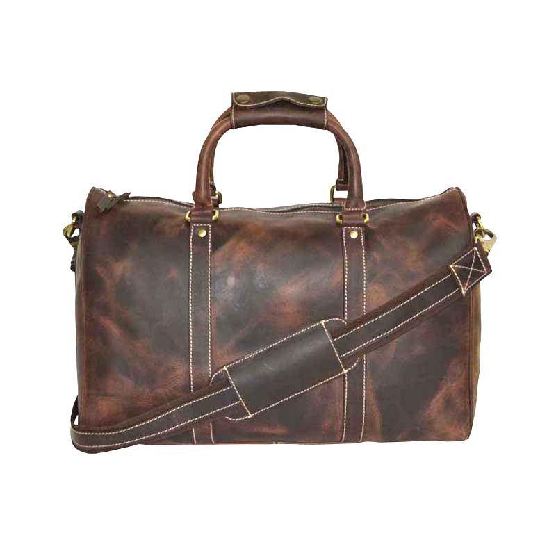 Zakara Medium Leather Gym Bag