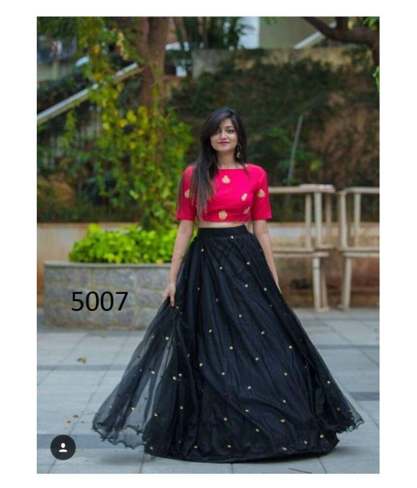 aab586ef7f6fe M.N FABRICS Black Net Semi Stitched Lehenga - Buy M.N FABRICS Black Net  Semi Stitched Lehenga Online at Best Prices in India on Snapdeal
