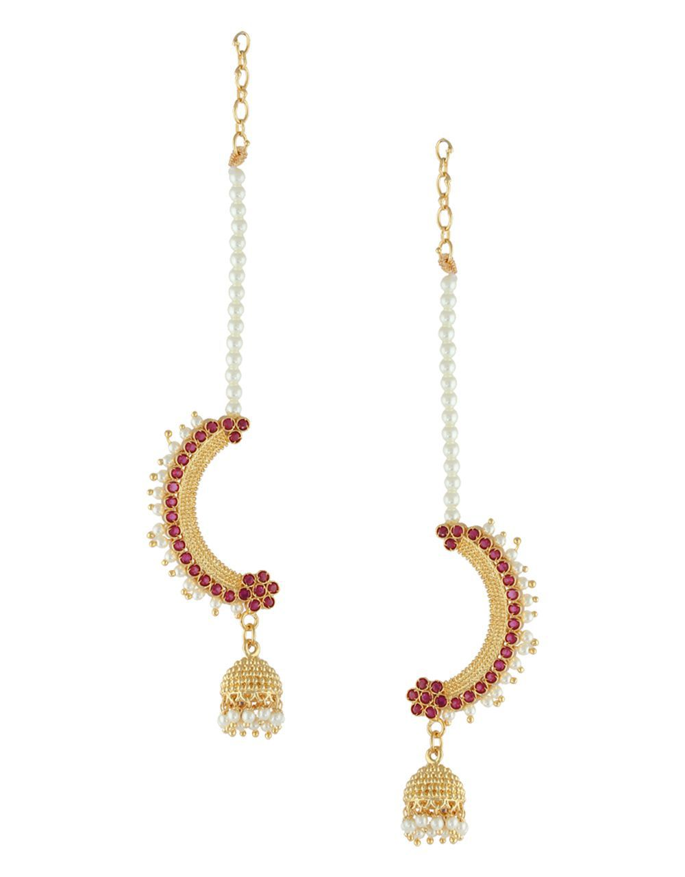 Anuradha Art Golden Finish Wonderful Studded With Stone Designer Traditional Jhumka/Jhumki Earrings For Women/Girls