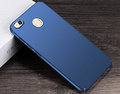 check out 34a2f af6ca Xiaomi Redmi 4 Plain Cases BEASTIN - Blue 360 Degree Protection Rubberised  Matte Hard Case