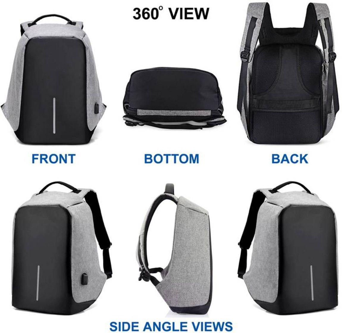 accf714cc947 ... NP NAVEEN PLASTIC 16 Inch Fit Laptop Waterproof School Bag   College  Backpack
