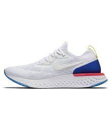 Nike Epic React Flyknit White Running Shoes