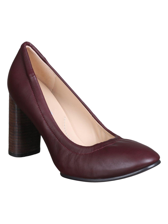 Clarks Red Block Heels