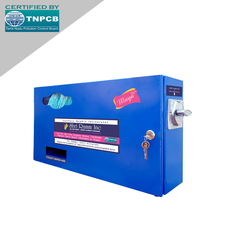 Maya Coin Operated Sanitary Napkin Vending Machine Regular 30 Sanitary Pads