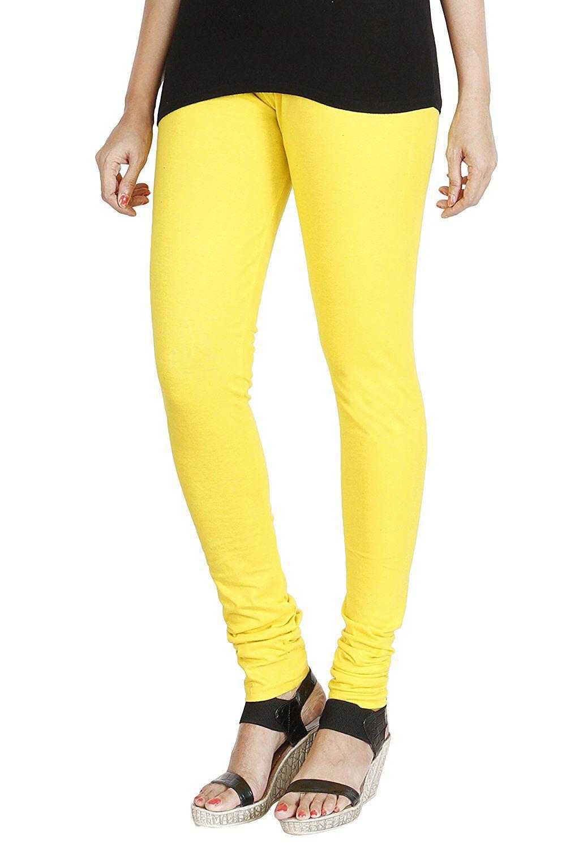 Apratim Cotton Jeggings - Yellow