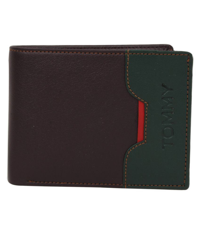 TOMMY Leather Brown Casual Regular Wallet