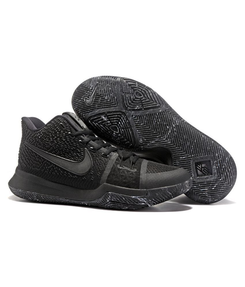 competitive price d7225 d0473 Nike Kyrie 3 Triple Black Basketball Shoes