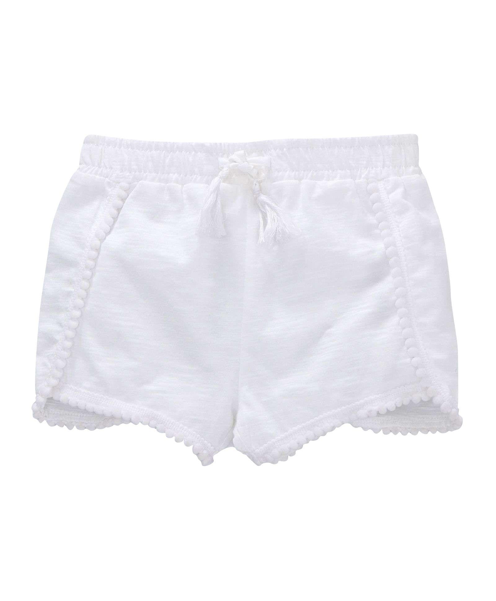 EIMOIE Girls Casual Solid Shorts (White)