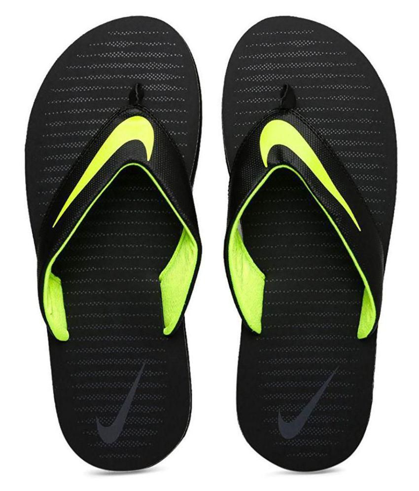 bedf68a05310 Nike Black Thong Flip Flop Price in India- Buy Nike Black Thong Flip Flop  Online at Snapdeal