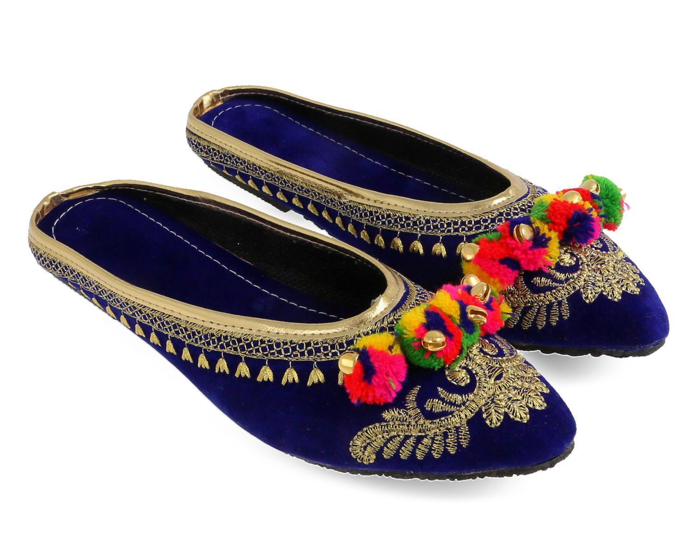 Be You Blue Ethnic Footwear