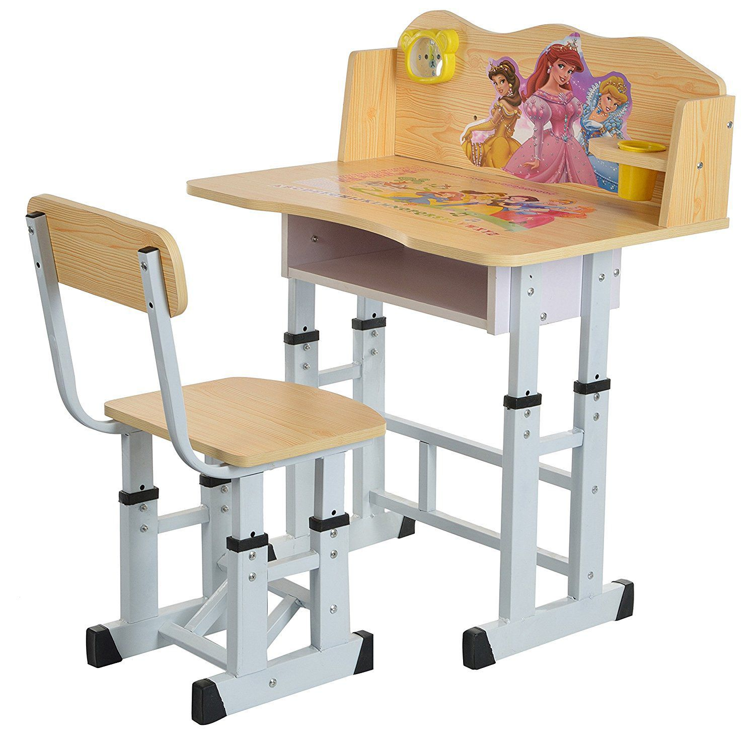 iris princess kids table and chair study set wooden finish buy rh snapdeal com