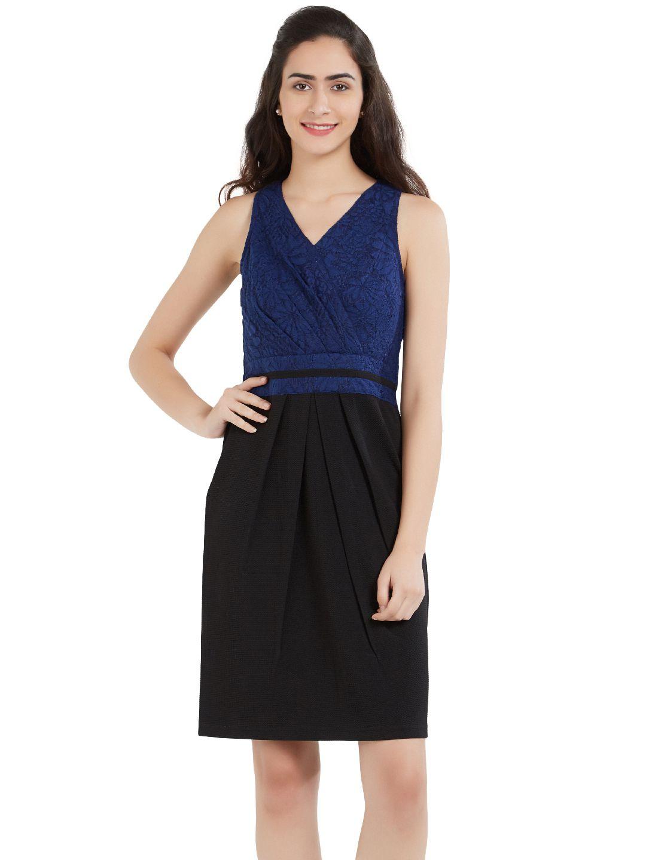 SOIE Polyester Blue Dresses