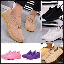 Candy multicolor sports fashion women's shoes pure color comfortable breathable mesh cloth shoes