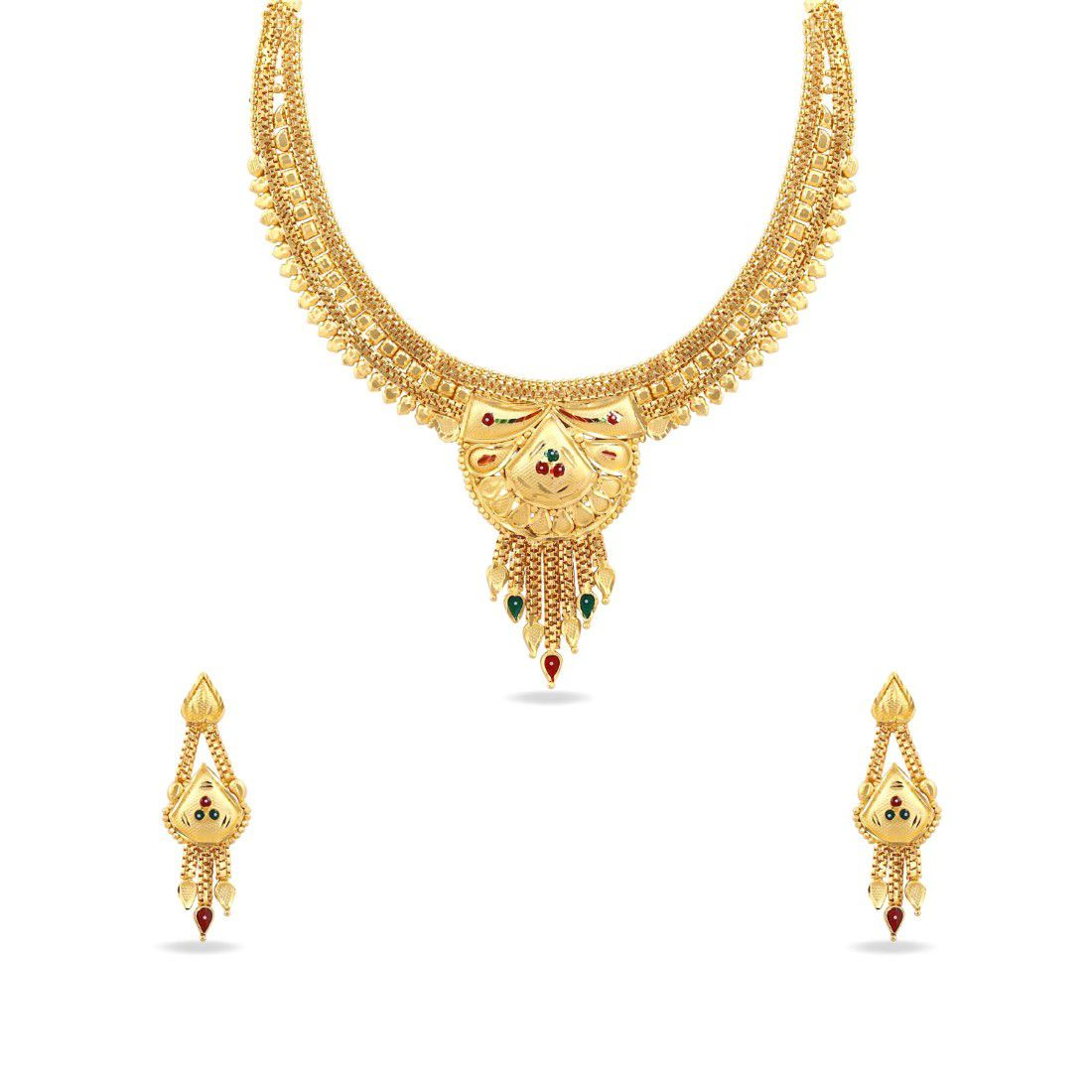 Kalyani Covering 21K Gold plated  Necklace set for Women and Girls