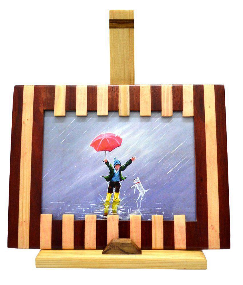 Just Frames Wood TableTop Brown Single Photo Frame - Pack of 1