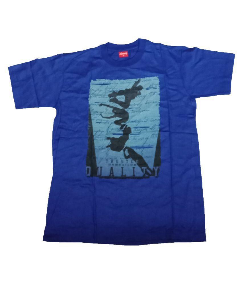 Ayezent Blue Round T-Shirt Pack of 1