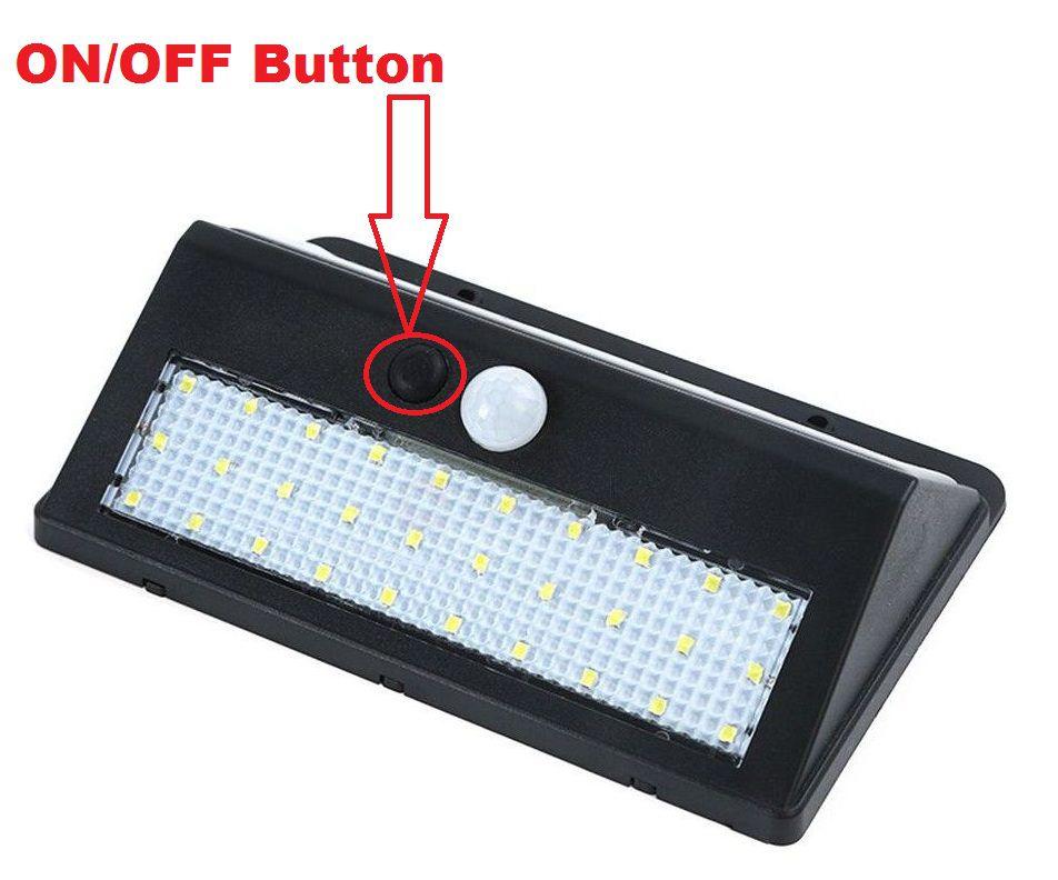 Bentag 30 Led 6w Solar Outdoor Motion Sensor Wall Light