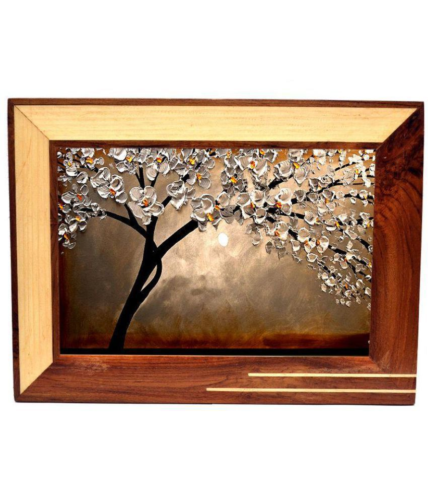 Just Frames Wood Wall Hanging Brown Single Photo Frame - Pack of 1