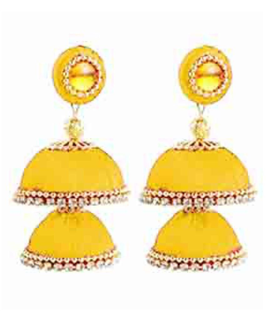 Silk Thread Earring For Girls