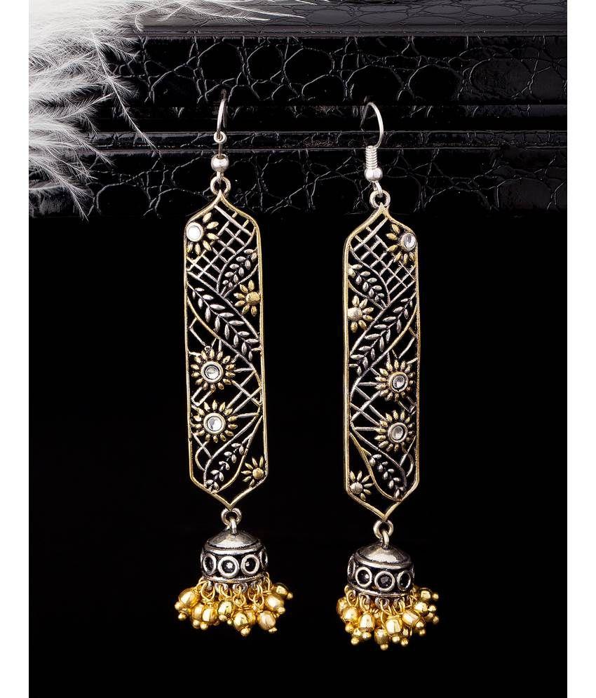 Dual Plated Chikankari Earrings For Women