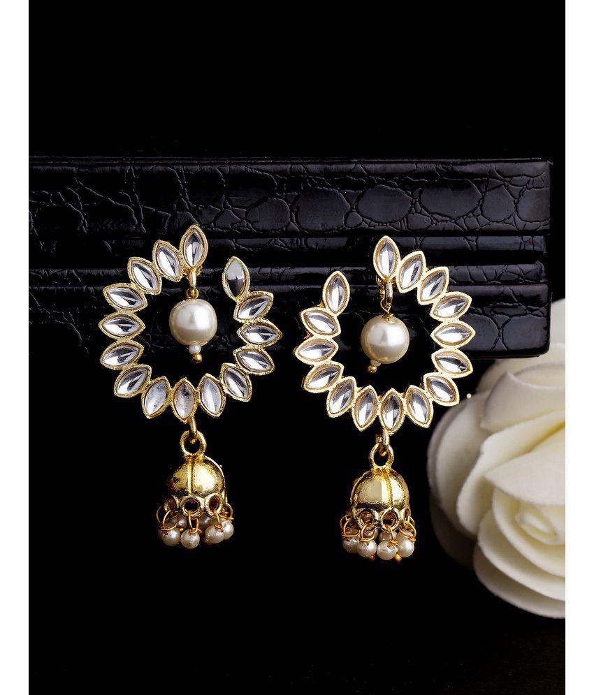 Shiny Stones Embellished Dangler Earrings For Women