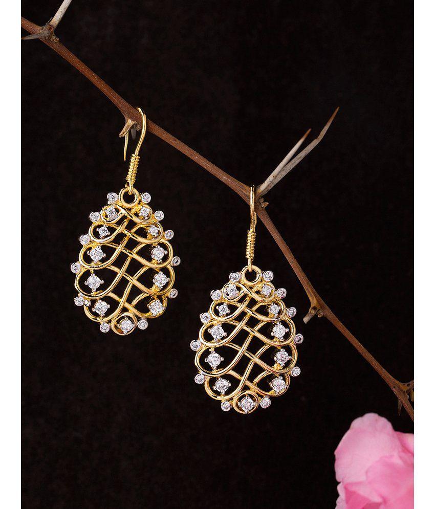 Voylla Blooming Dales Elegant Dangler Earrings