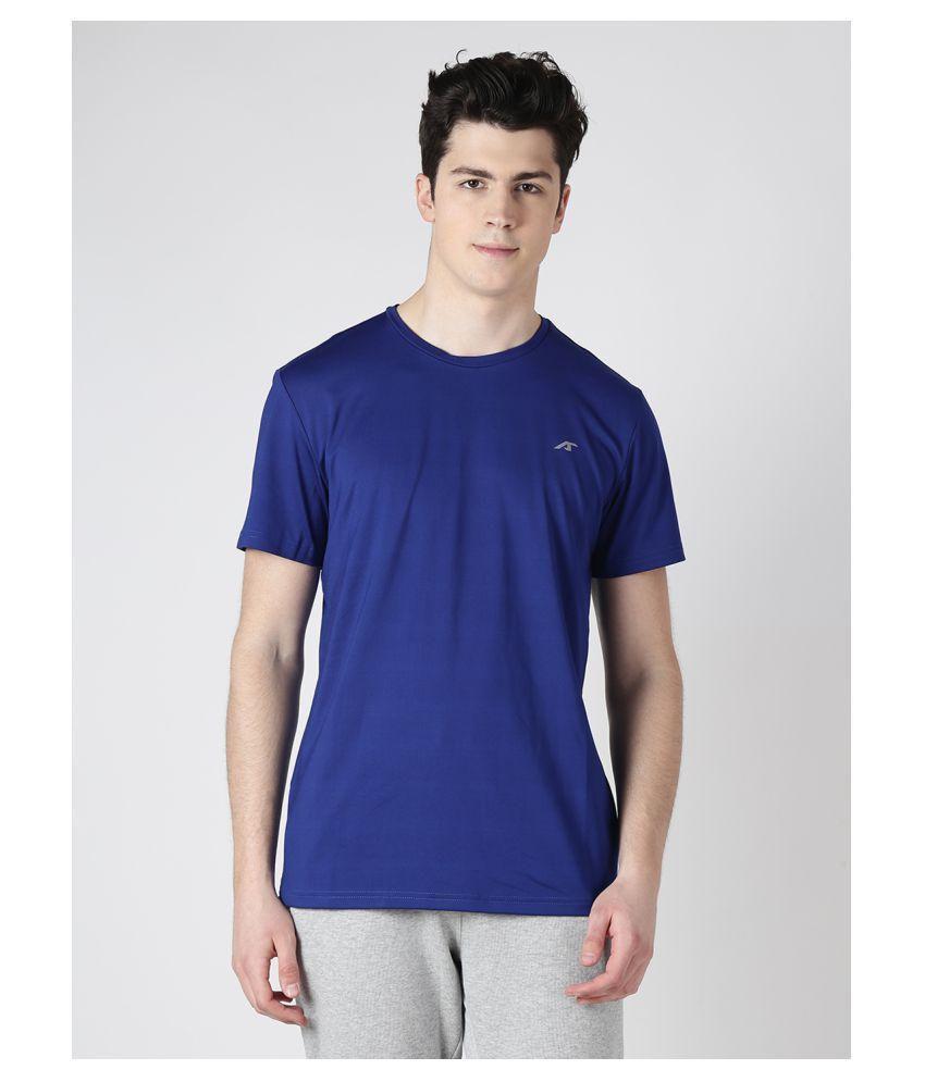 Alcis Mens Navy Blue Solid Tshirt