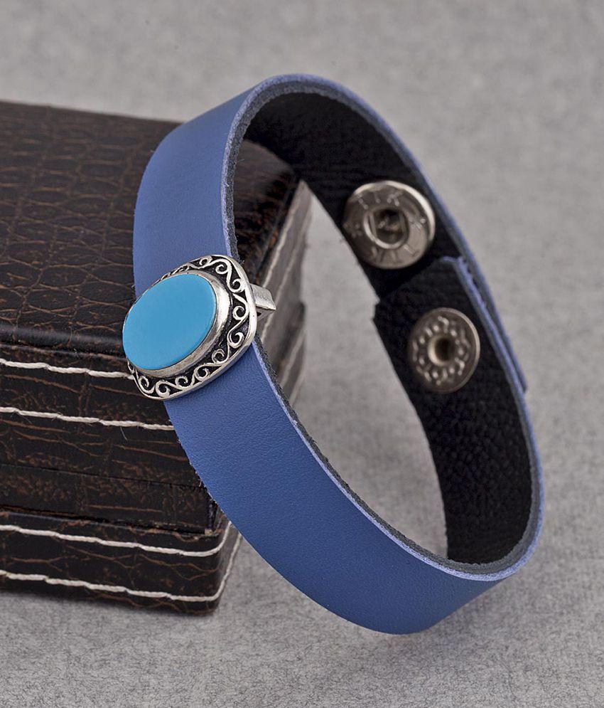Dare by Voylla Dual Blue Milestone Bracelet
