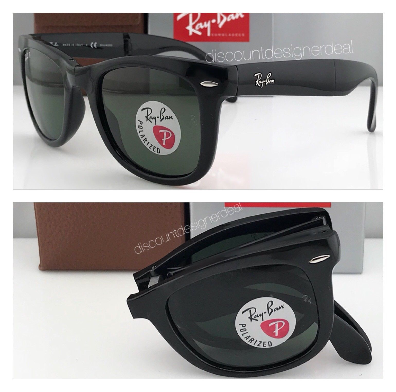 f8945dd0fa Ray Ban Classic Black Wayfarer Sunglasses ( RB 4105 Foldable ) - Buy Ray  Ban Classic Black Wayfarer Sunglasses ( RB 4105 Foldable ) Online at Low  Price - ...