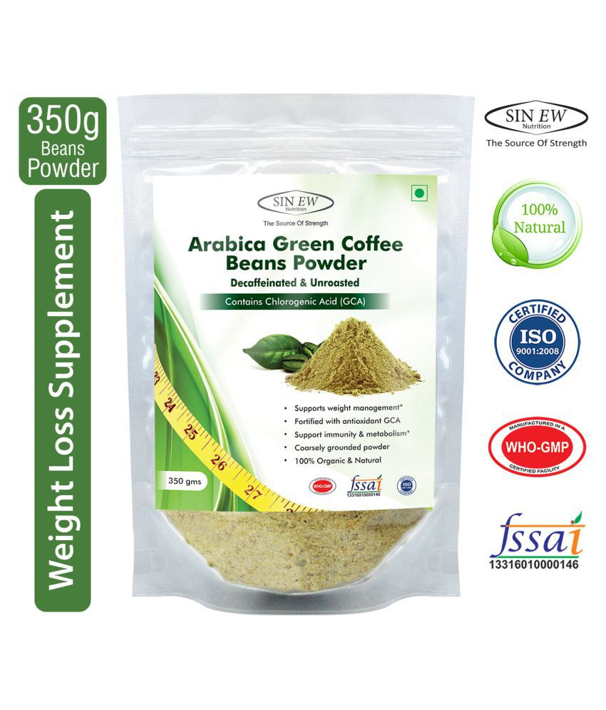 Sinew Green Coffee Beans Powder 350 gm Unfalvoured