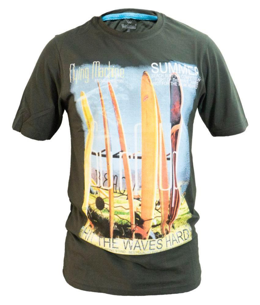 Glaring Textiles Green Cotton T-Shirt