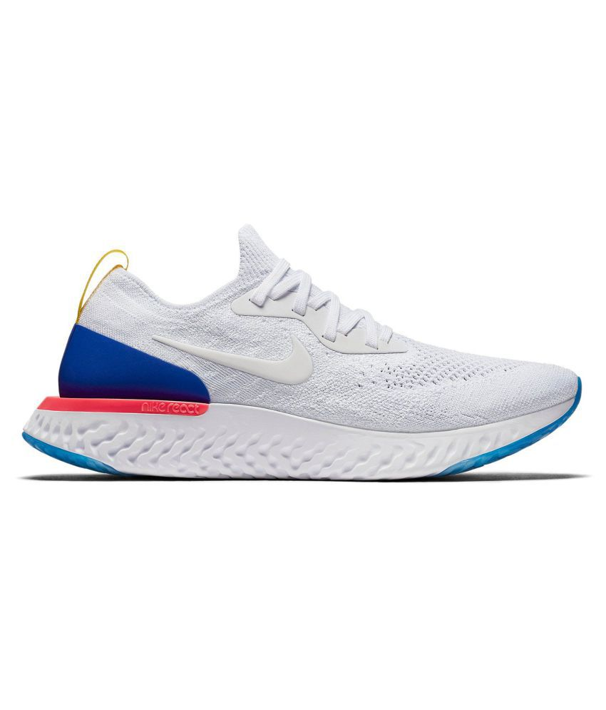 1a88324b9f0b Nike Epic React Flyknit White Training Shoes - Buy Nike Epic React Flyknit  White Training Shoes Online at Best Prices in India on Snapdeal