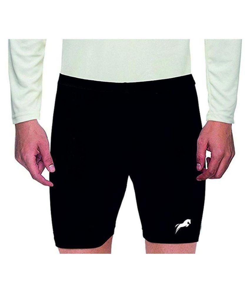 Rider Compression Men's Shorts Tights (Nylon) Skins for Gym, Running, Cycling, Swimming, Basketball, Cricket, Yoga, Football, Tennis, Badminton & Many More Sports