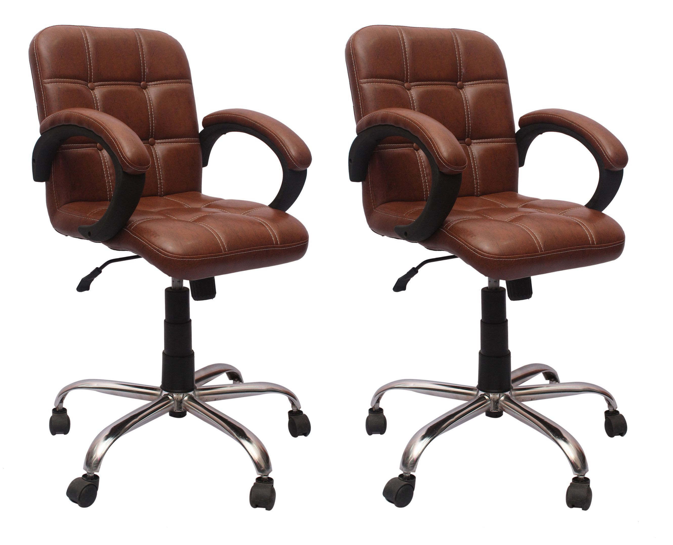 VJ Interior Leatherette fice Arm Chair BO Set Buy VJ Interior