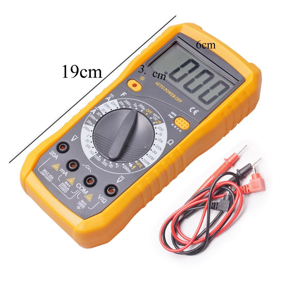 Buy Lcd Digital Voltmeter Ohmmeter Ammeter Ohm Multimeter Multi Test Circuit Tester Meter
